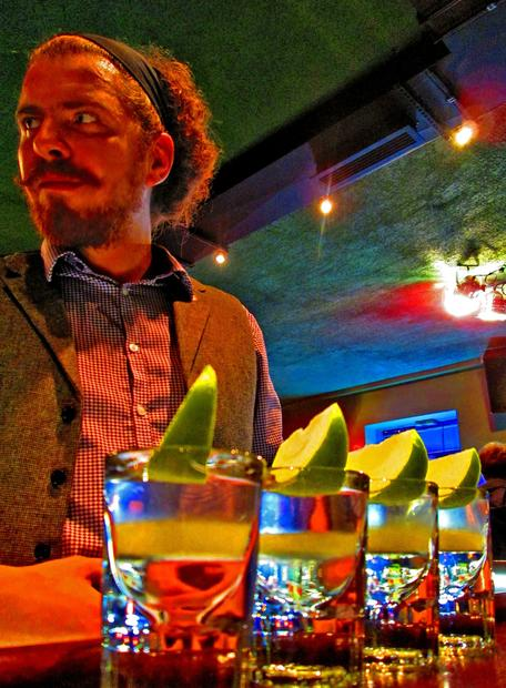 Grisha is a local bartending legend who works his magic at the Hat, a jazz bar in St. Petersburg.