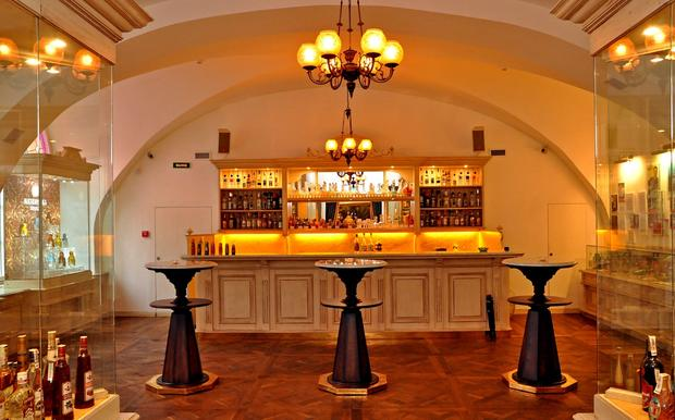 Russian Vodka Room No. 1 in St. Petersburg combines a restaurant, vodka museum and a tasting room with more than 200 kinds of vodka.