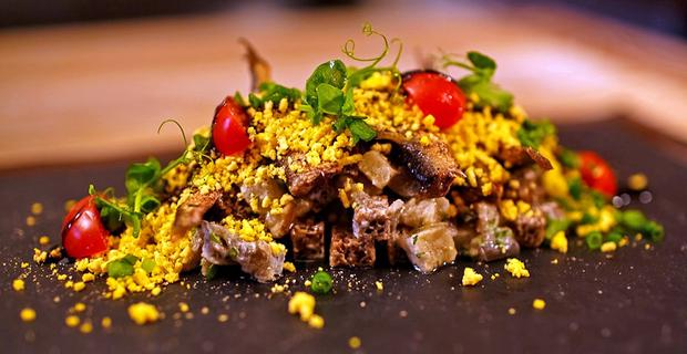 Sprats, not usually known as an exciting fish dish, is transformed by chef Dmitry Shurshakov at Vatrushka in Moscow.