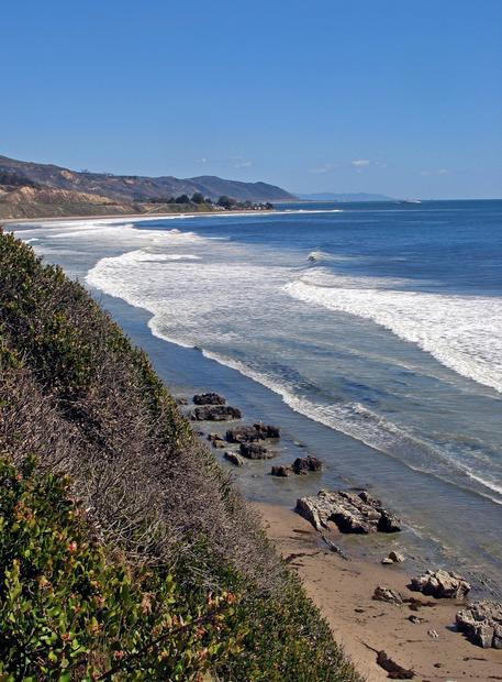 A view of the coast from the Carpinteria Bluffs.