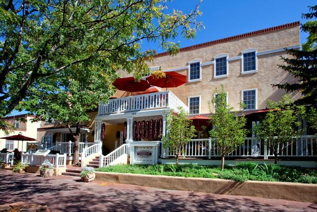 The Hotel Chimayo in downtown Santa Fe is a short walk from the city's famed plaza.