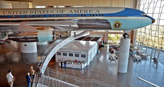 The actual Air Force One used by President Reagan at the Ronald Reagan Presidential Library in Simi Valley.