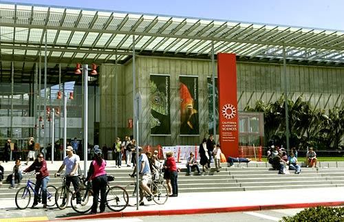 The front of the California Academy of Sciences is a popular gathering spot in San Francisco's Golden Gate Park. A money-saving tip: The museum offers free admission on the third Wednesday of every month. But get there early  — on free Wednesdays, the lines are monstrous.