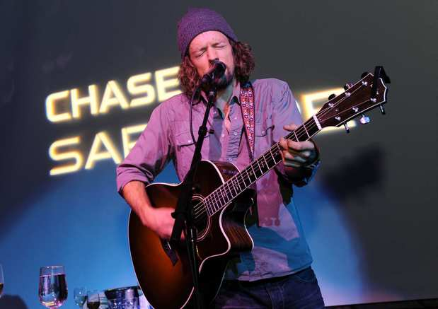 "Jason Mraz performs at the ""Liberal Arts"" premiere party."