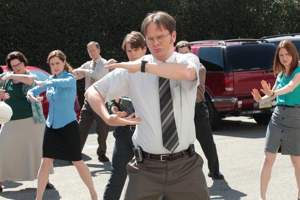 "Like the series, ""The Office"" finale was both random and sweet. As fans hoped, Steve Carell (Michael Scott) made an appearance to substitute for Jim (John Krasinski) as Dwight's last-minute best man. <br><br> ""Best prank ever,"" Jim said of his final stunt. <br><br> Carell had two lines, the first, ""That's what she said."" And the second, looking over Dwight's wedding reception, was, ""I feel like all my kids grew up and then they married each other. It's every parent's dream."" <br><br> But the final word went to Pam (Jenna Fischer), revealing why ""The Office"" had been worth watching for nine seasons. ""There's a lot of beauty in ordinary things,"" she said. ""Isn't that the point?"""