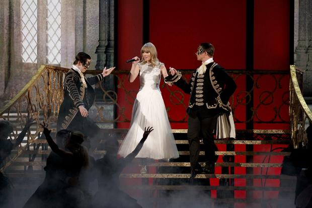 "Taylor Swift performs ""I Knew You Were Trouble."""