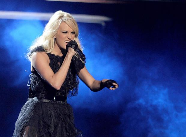 "Carrie Underwood performs ""Two Black Cadillacs."""