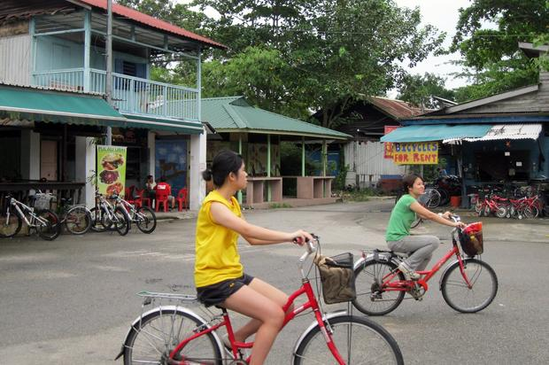 Seeing the island by bike is a popular activity.