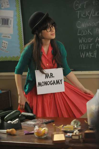 "Zooey Deschanel plays Jess in ""New Girl."""