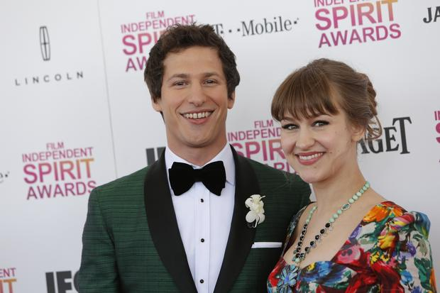 Comedian and actor Andy Samberg, who hosted the gala, and his fiancee, musician Joanna Newsom.