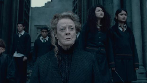 "Maggie Smith plays the formidable Professor Minerva McGonagall in ""Harry Potter and the Deathly Hallows -- Part 2."""