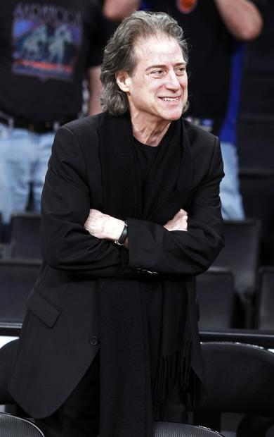 Knicks fan Richard Lewis had to watch his team fall 100-94 to the Lakers on Christmas Day.
