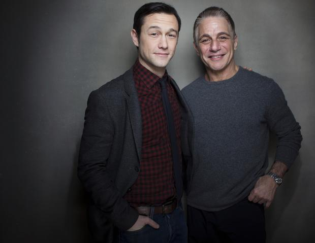 "Joseph Gordon-Levitt, left, and Tony Danza from ""Don Jon's Addiction"""
