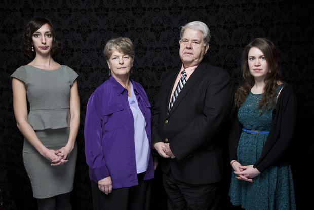 "Lana Wilson, left, co-director; Dr. Susan Robinson, subject; Dr. LeRoy Carhart, subject; and Martha Shane, co-director, from the film ""After Tiller."""