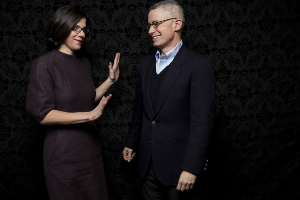 "Director Alexandra Pelosi, director and former New Jersey governor Jim McGreevey, subject, of the film ""Fall to Grace."""