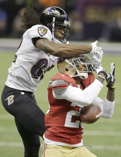 49ers defensive back Chris Culliver breaks up a pass intended for Ravens receiver Torrey Smith in the second quarter Sunday.