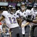 Jacoby Jones, Joe Flacco, Kelechi Osemele