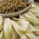 Fennel with green tapenade