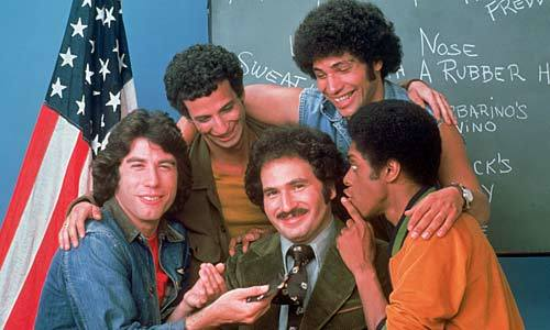 "This 1975 series was an Emmy darling, and fans couldn't get enough of it either. Would new teacher Gabe Kotter tame the wily ways of the Sweathogs?  With students like Vinnie Barbarino and Freddie ""Boom-Boom"" Washington, Kotter had his work cut out for him!"
