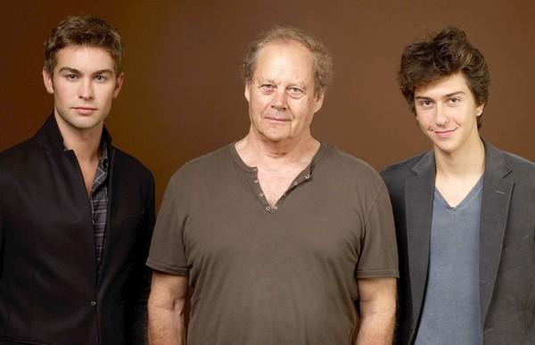 "From left to right, actor Chase Crawford, director Bruce Beresford and actor Nat Wolff of ""Peace, Love & Misunderstanding"" pose for a portrait."