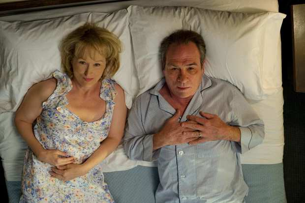 "Kay (Meryl Streep) and Arnold Soames (Tommy Lee Jones) in ""Hope Springs."""
