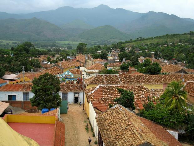 Looking north over the roofs of Trinidad from the Antiguo Conveto de San Francisco de Asis.