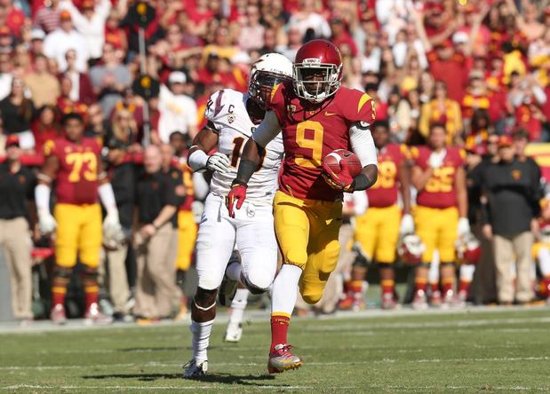 USC receiver Marqise Lee is in the clear during an 80-yard scoring pass play against Arizona State on Saturday afternoon.