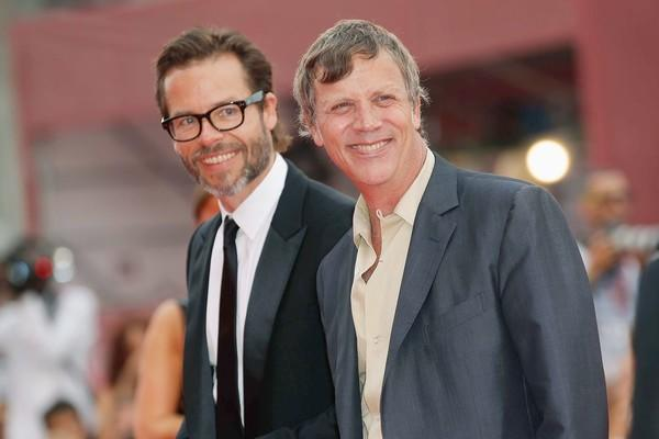"""Mildred Pierce"" director Todd Haynes, right, and actor Guy Pearce."