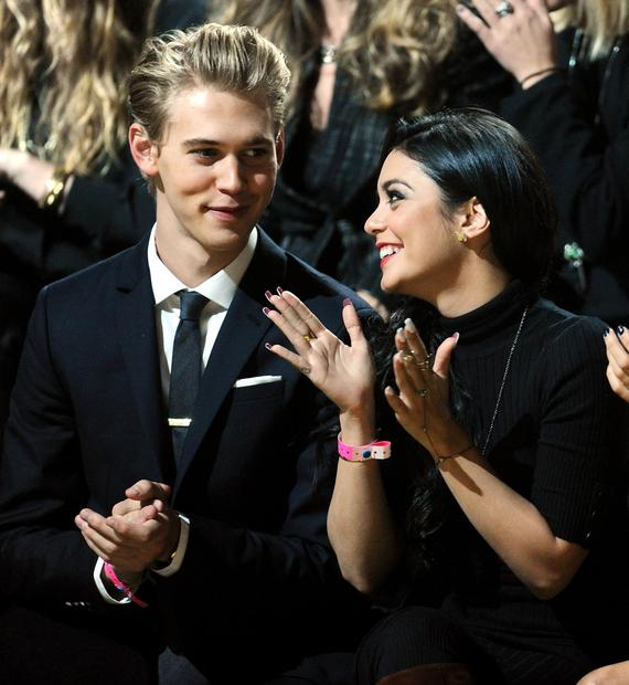 Actress Vanessa Hudgens and boyfriend actor Austin Butler.
