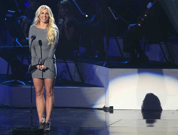 "Singer and ""X Factor"" judge Britney Spears pays tribute to Houston."