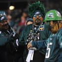 Eagles cheerleaders and fans