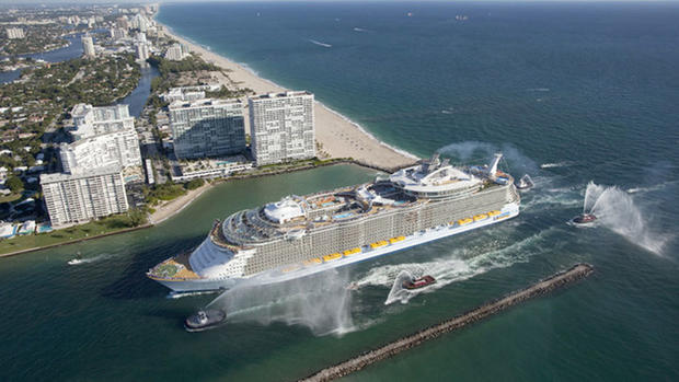 Royal Caribbean's Allure of the Seas makes her U.S. debut as she arrives into her homeport of Port Everglades in Fort Lauderdale.