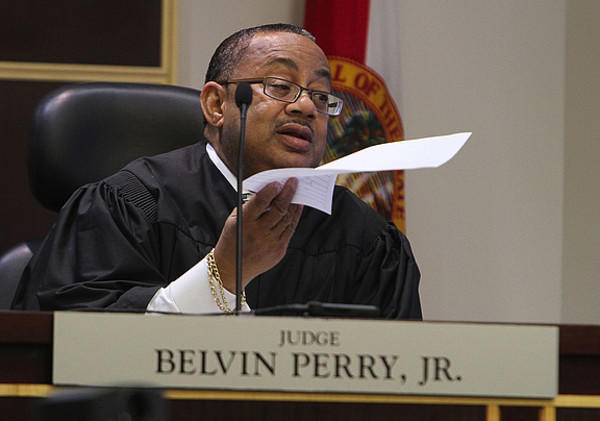 Chief Judge Belvin Perry on Thursday, March 24, 2011, during a scientific evidence hearing at the Orange County Courthouse.