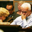 George and Cindy Anthony at Casey Anthony's check-fraud trial