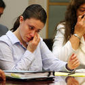 Casey Anthony wipes tears