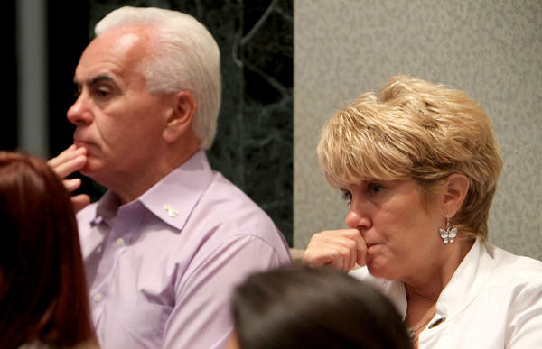 George and Cindy Anthony listen to final arguments in the murder trial of their daughter Casey Anthony at the Orange County Courthouse in Orlando, Fla. on Monday, July 4, 2011.