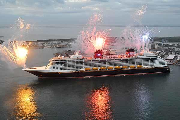 Disney Cruise Line's newest ship, the Disney Dream, arrives at its home port or Port Canaveral in the early morning of Tuesday, January 4, 2011