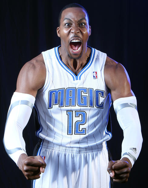 Orlando Magic center Dwight Howard during media day at Amway Center in Orlando, Fla. Monday, December 12. 2011.