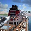 Renderings of the Disney Dream cruise ship