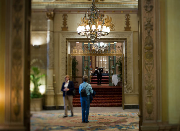 The lobby of the Millennium Biltmore the famous downtown Los Angeles hotel retains its ornate, retro opulence. This LA landmark was, legend has it, the last place The Black Dahlia (aka Elizabeth Short) was seen in 1947 before her grisly murder. The Los Angeles of the '30s and '40s, as depicted in its Noir novels and movies, lives on in a tour de noir.