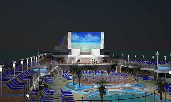 Renderings show plans for the new Princess Cruises ship, the Royal Princess, slated to debut in spring 2013.