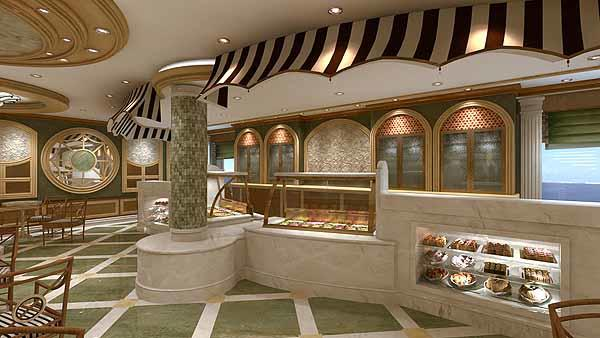 Gelato is a gelataria in the Piazza part of the new Royal Princess cruise ship. Gelato will serve up a variety of treats such as designer sundaes, sweet crespelle (Italian crepes), fruit smoothies, shakes, and homemade waffle ice cream cones. The new Princess Cruises ship is set to debut in June 2013.