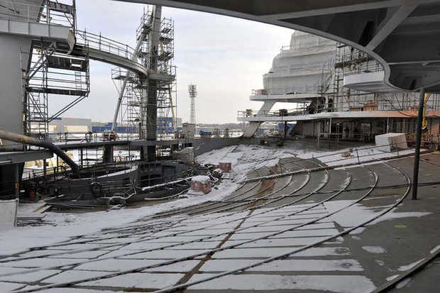 Images of the construction of Royal Caribbean's newest ship, the Allure of the Seas, set to debut in December 2010.