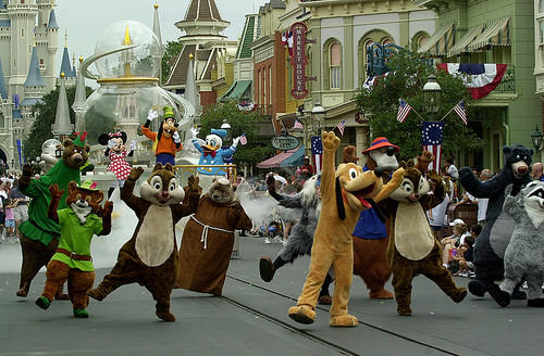 New parade at Magic Kingdom at Walt Disney World on Sept. 26, 2001.