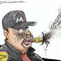 Dana Summers Cartoon: Sports: Miami Marlins, Baseball, Ozzie Guillen, Cuba, Castro