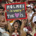 FSU fans cheer before the start of the Oklahoma at Florida State NCAA football game.