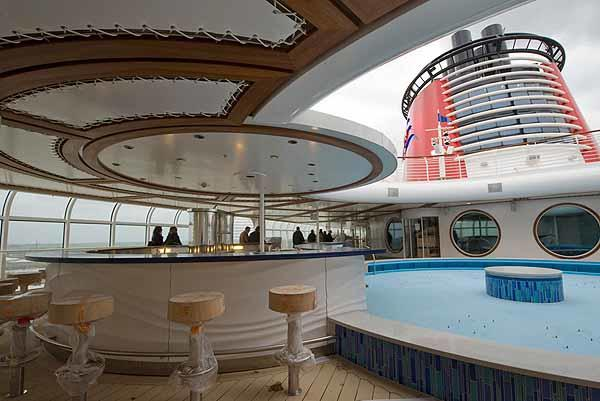 The pools on Deck 11 -- Images from Disney Cruise Line's new Disney Dream leading up to its debut in Cape Canaveral in January 2011.