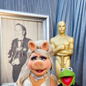 Miss Piggy and Kermit of 'The Muppets'