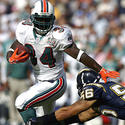 Ricky Williams almost escapes