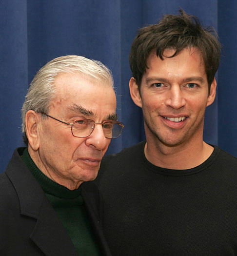 "Tony Award winning composer and lyricist Richard Adler, left, best known for his Broadway hits ""Damn Yankees"" and ""The Pajama Game,"" died at age 90 in New York."